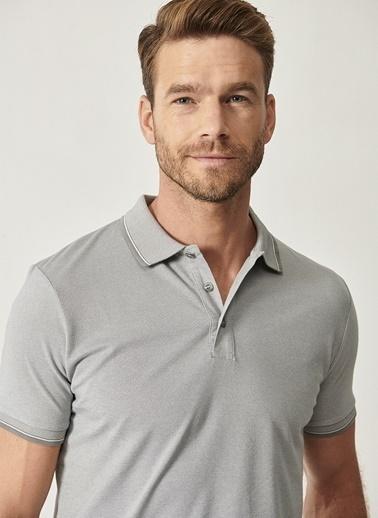Altınyıldız Classics Altınyıldız Classıc Erkek Gri Polo YakaT-Shirt Gri
